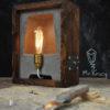 lampa nocna z betonu reversed