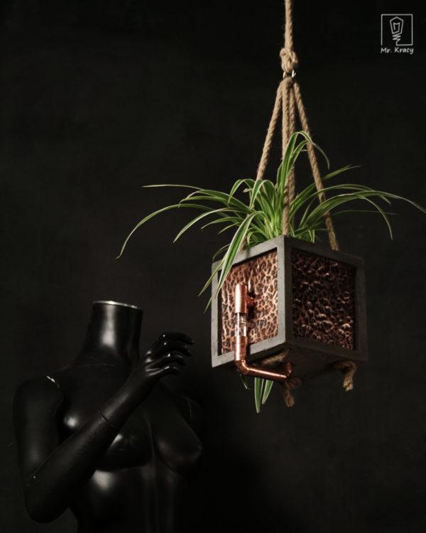 Wisząca doniczka samonawadniająca KOM POT SWING – Koper (12 cm)