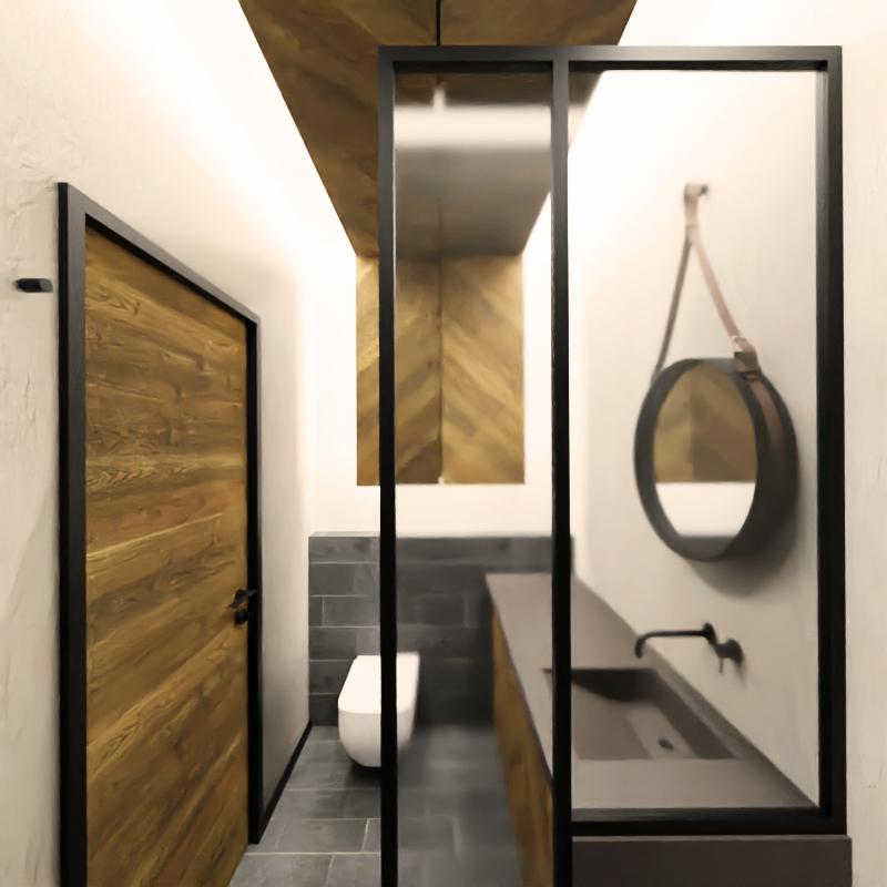 projekt niewielkiej łazienki 3