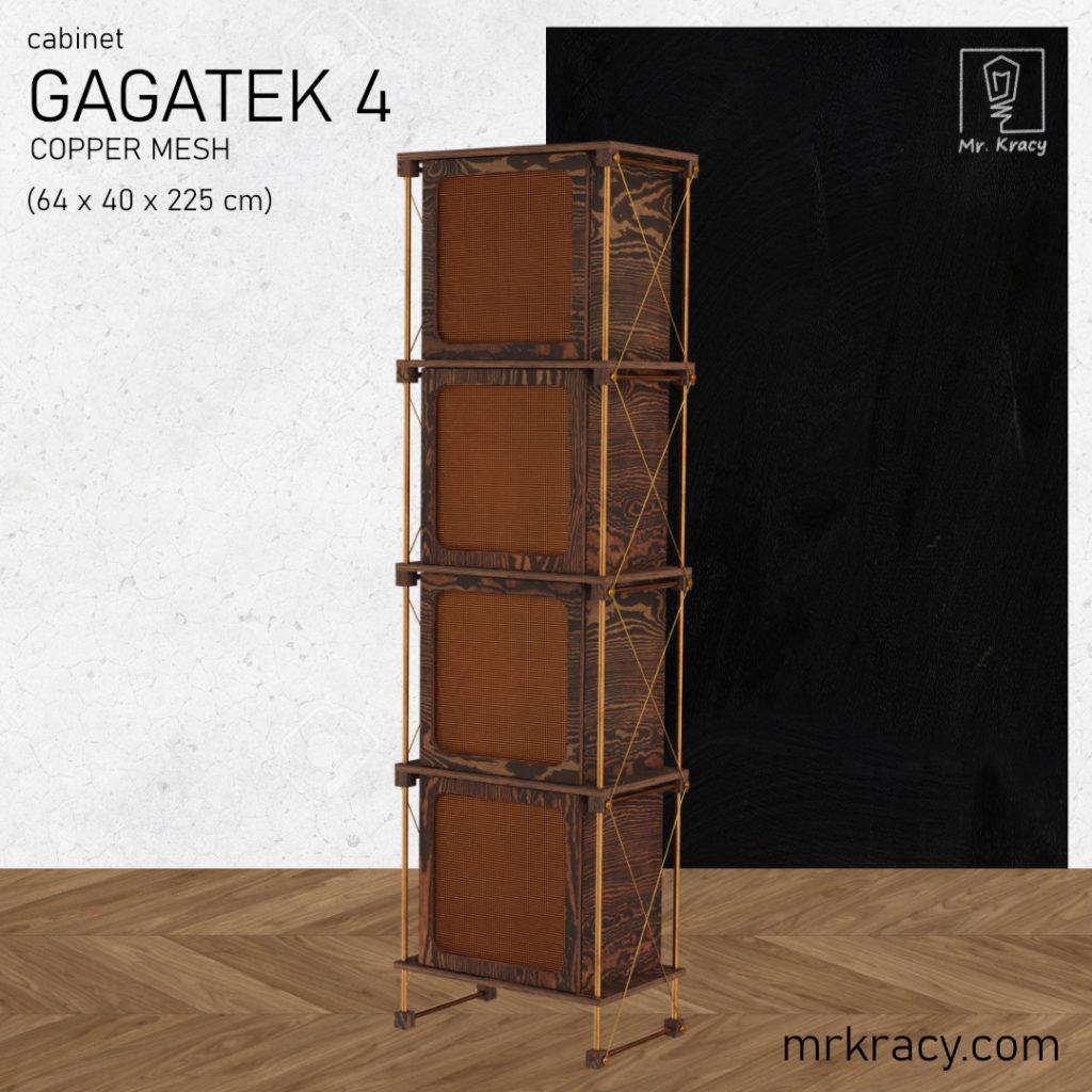 modele 3d wysoka szafka z siatką miedzianą