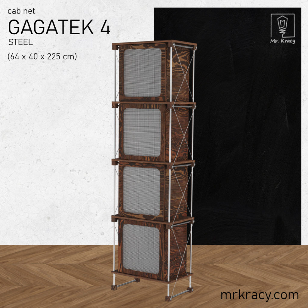 modele 3d wysoka szafka z siatką stalową