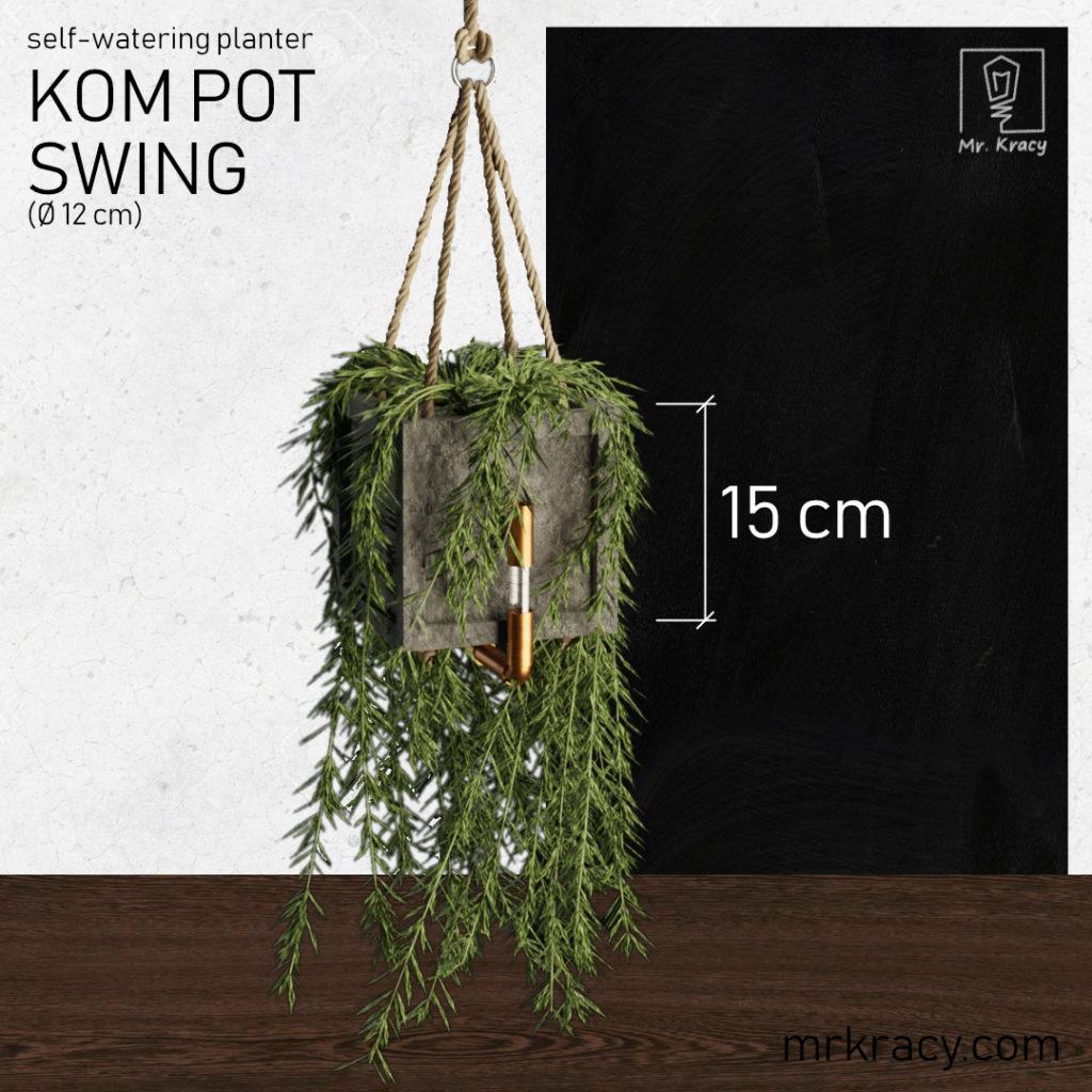 modele 3d wisząca doniczka samonawadniająca kom pot swing