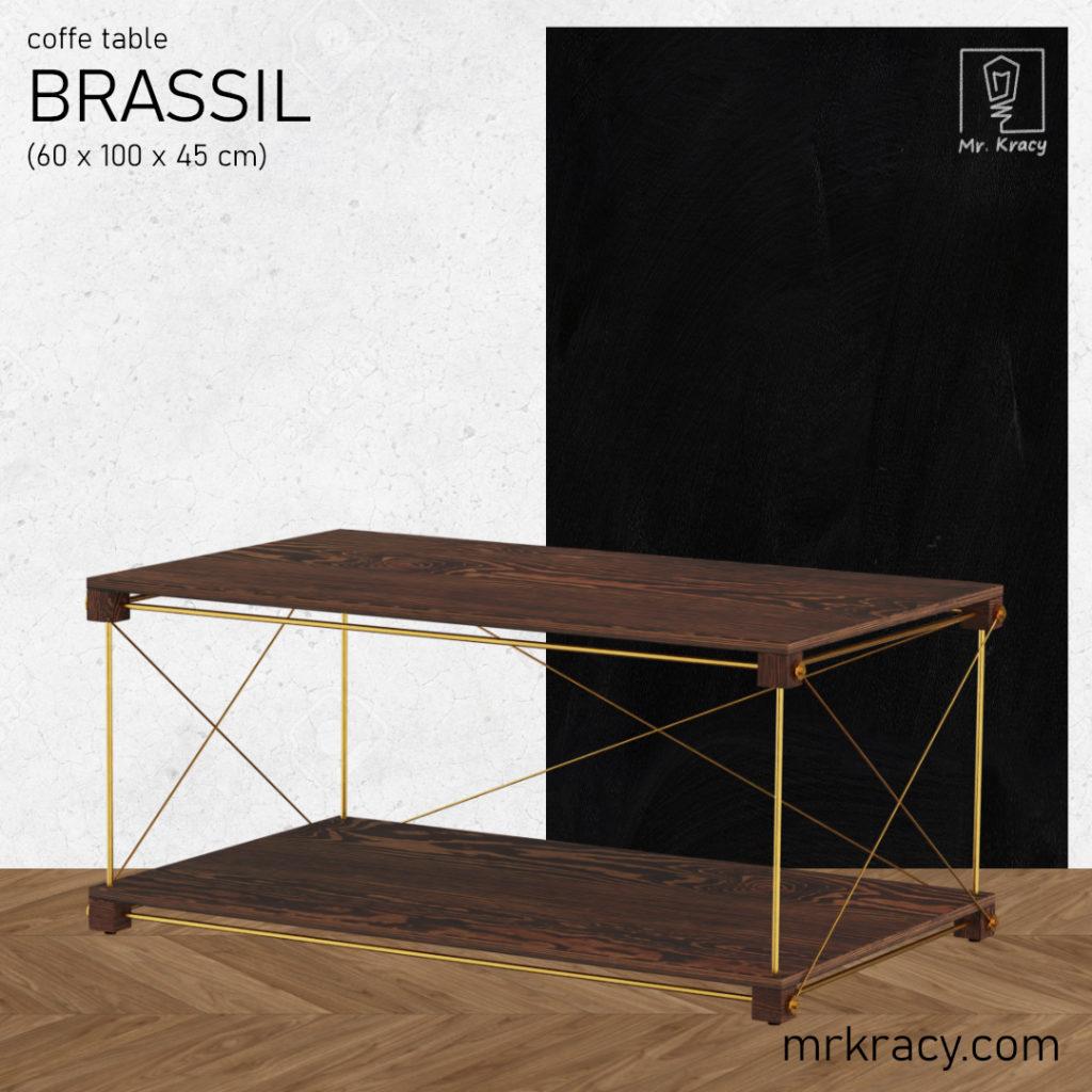model 3d stolik kawowy mosiężny