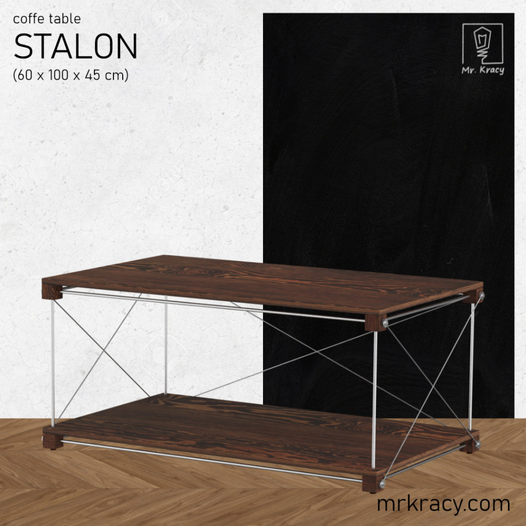 model 3d stolik kawowy stalowy