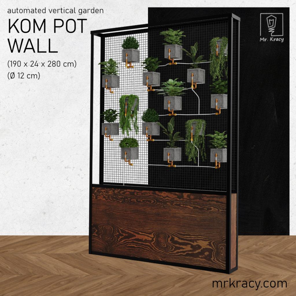 modele 3d ogród wertykalny zielona ściania loft