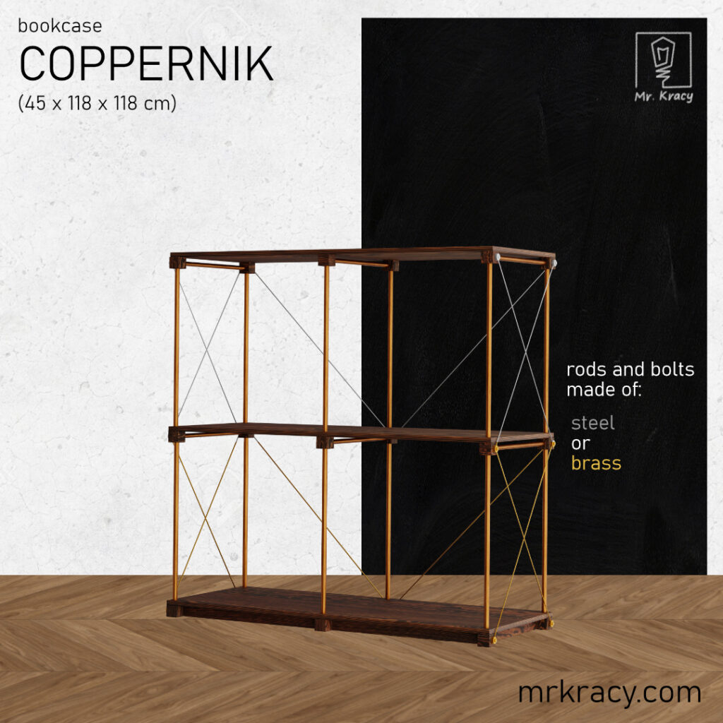 3d models copper pipe bookshelf