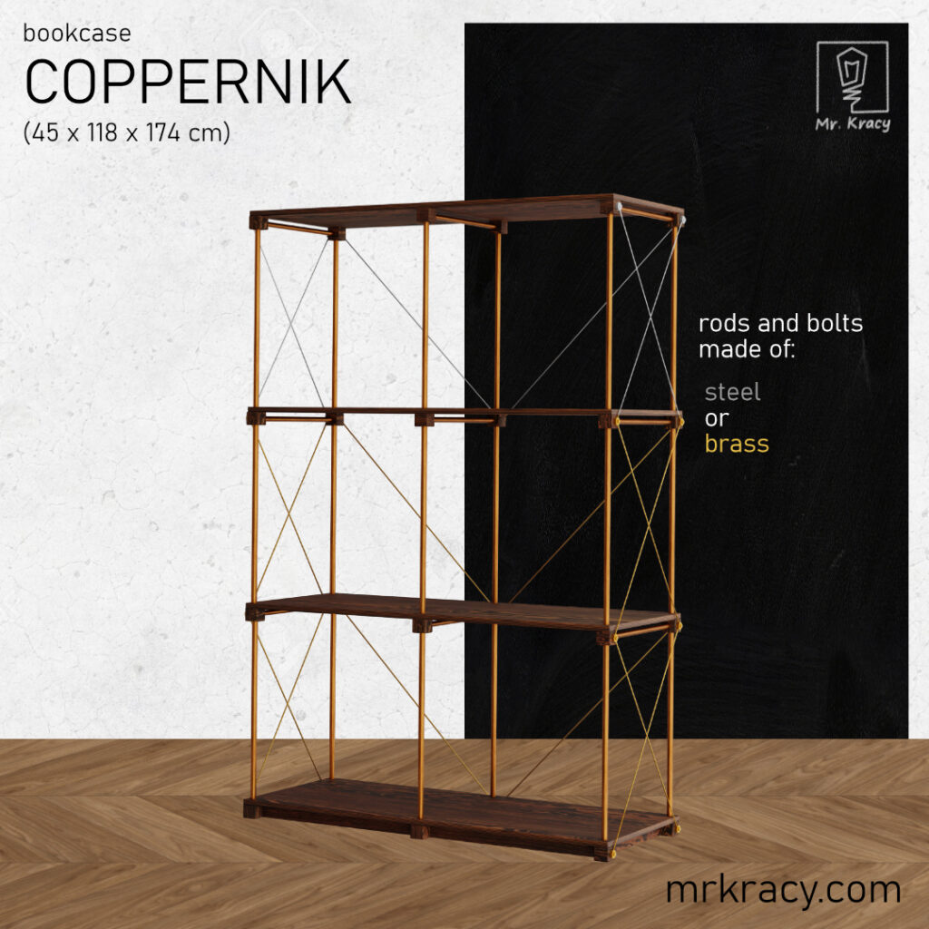 3d models copper pipe bookshelf 2