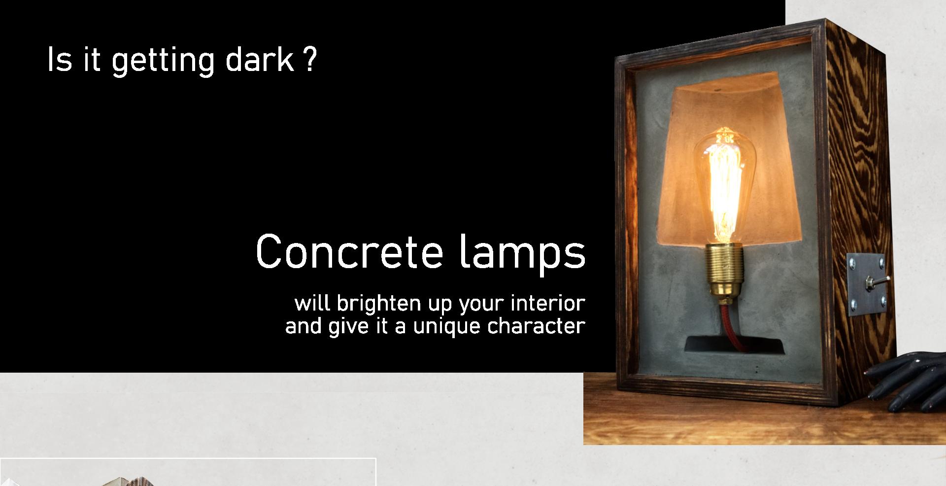 lampy z betonu sklep